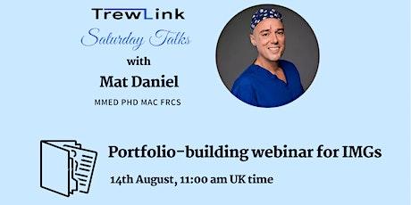 Portfolio-building webinar for IMGs tickets