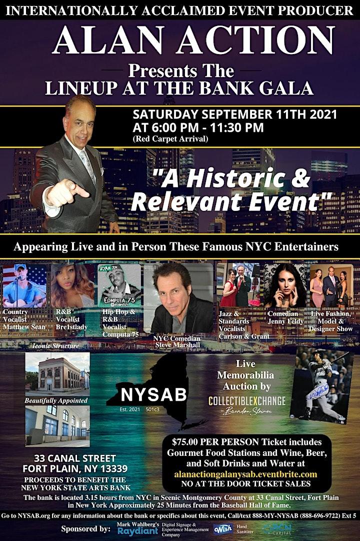AlanAction.Com Presents The Charity Gala At The Bank Saturday 9/11/21 6P.M. image