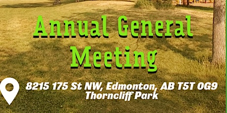 Thorncliff's Annual General Meeting tickets