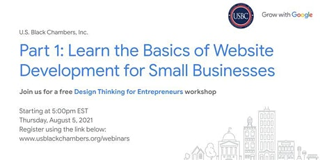 Grow with Google: Design Thinking for Entrepreneurs & Website Design Part I tickets