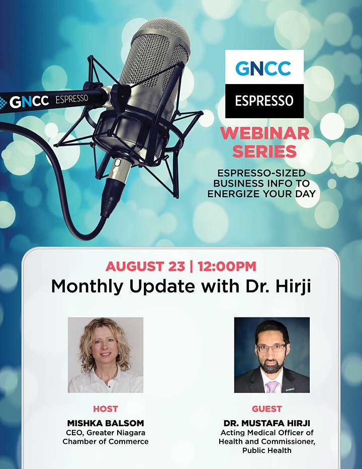 Espresso Live  with Dr. Hirji: August 23,  2021 image