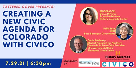 Tattered Cover Presents: Creating a New Civic Agenda for CO tickets