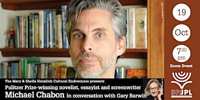 Pulitzer Prize-winning novelist, essayist and screenwriter  Michael Chabon
