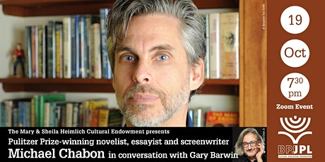 Pulitzer Prize-winning novelist, essayist and screenwriter  Michael Chabon tickets
