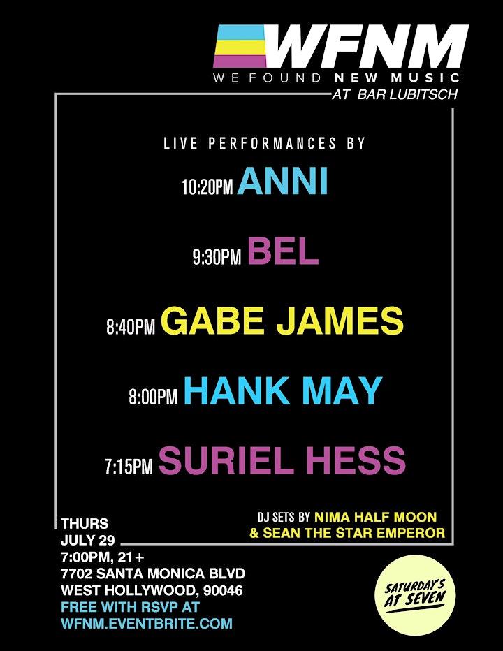ANNI / BEL / GABE JAMES / HANK MAY / SURIEL HESS image
