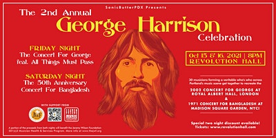 RESCHEDULED 10/8/22-The 2nd Annual George Harrison Celebration! (NIGHT TWO)