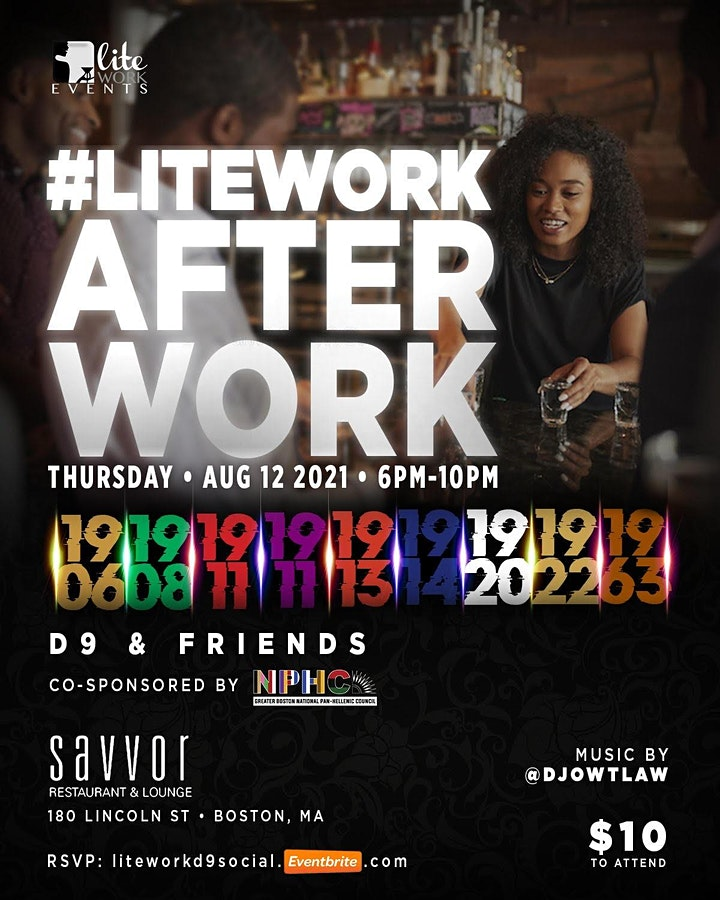 #LiteWorkAfterWork D9 and Friends Social image