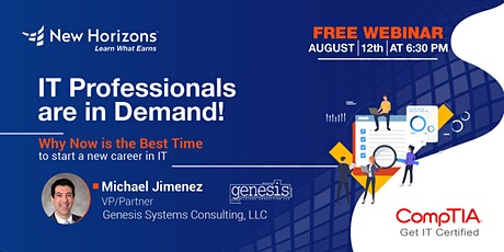 IT Professionals in Demand! Why Now is the Best Time to Start an IT Career. tickets