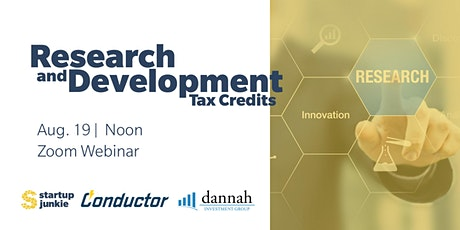 Research & Development Tax Credit Webinar tickets