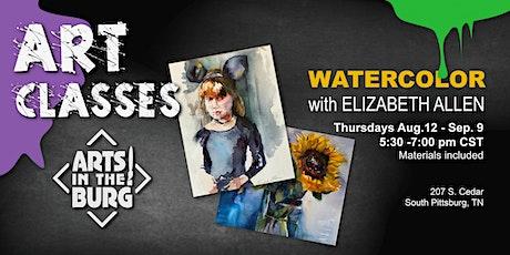 Watercolor with Elizabeth Allen at Arts in the Burg tickets