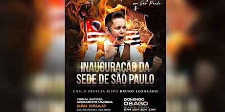 INAUGURAÇÃO  AVIVAMENTO SÃO PAULO ingressos