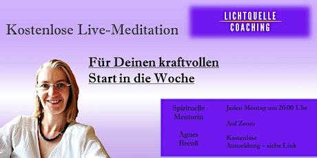 Kostenlose Live-Meditation Tickets