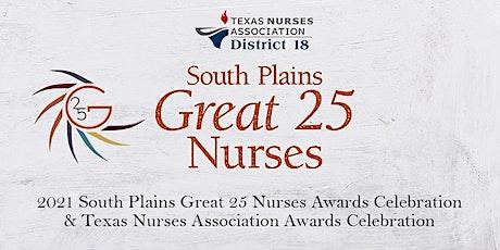 2021 South Plains Great 25 Nurses Awards Celebration tickets