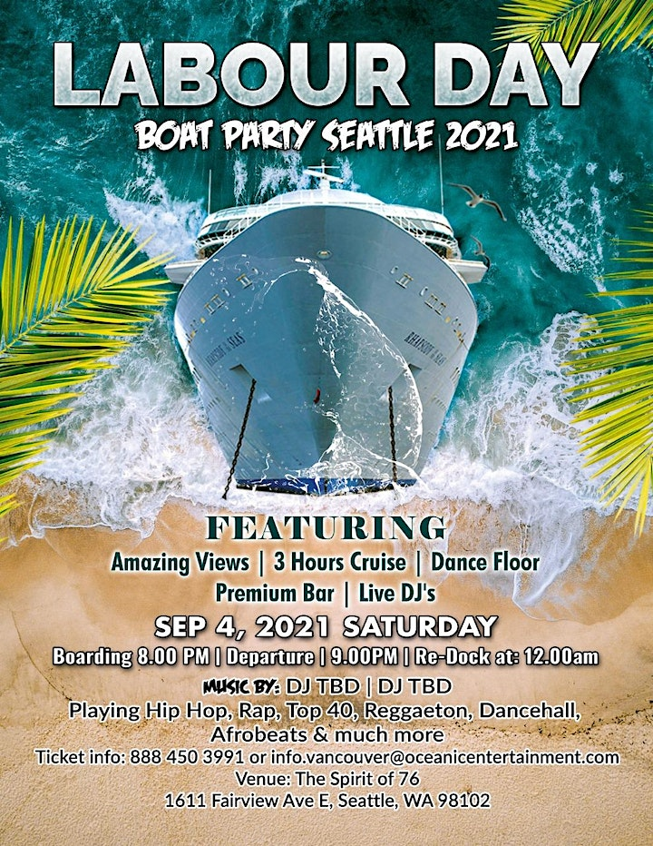 Summer Sunset Boat Party Seattle 2021 image