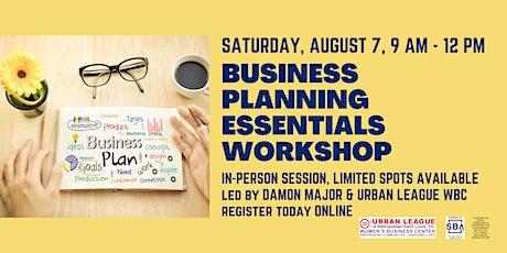 Business Planning Essentials In-Person Workshop tickets