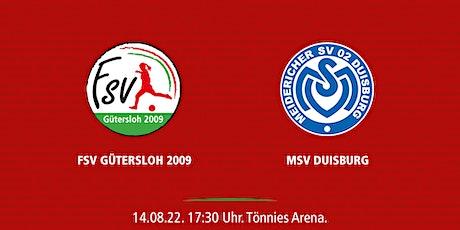 1. Spieltag: FSV Gütersloh - MSV Duisburg Tickets