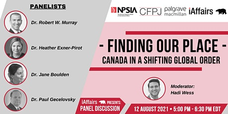 Finding Our Place: Canada in A shifting Global Order tickets