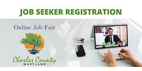 Charles County Online Job Fair - Job Seeker Registration tickets