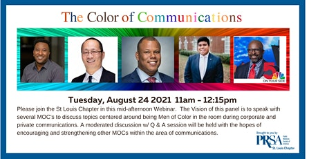 The Color of Communications - Pt 2 Men of Color tickets