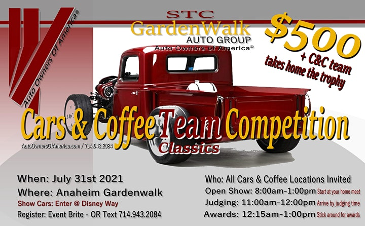 Auto Owners Of America© Cars And Coffee Classics Team Competition image