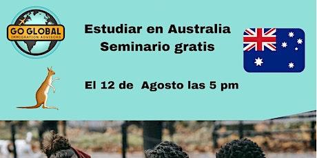 Estudiar en Australia. Conferencia gratuita via Zoom. Para Latinoamericanos tickets