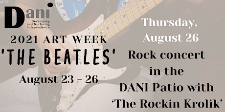 Art auction and live concert in the DANI Patio with 'The Rockin Krolik' tickets