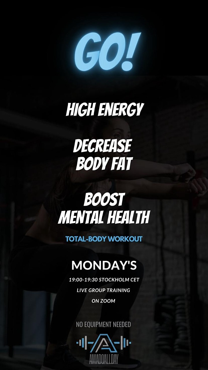 Go! High energy total-body workout. Live home workout! image