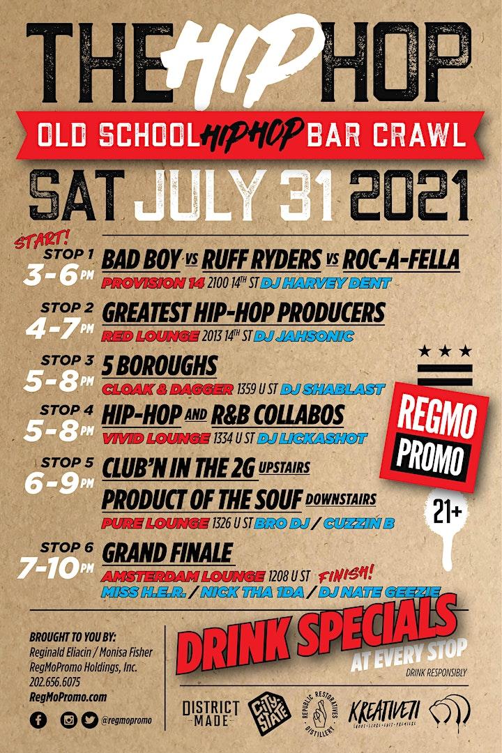 "The Hip ""HOP"" Old School Bar Crawl image"