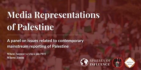 Media Representations of Palestine tickets