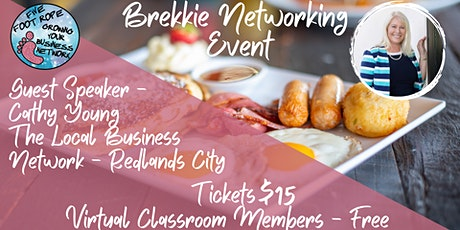 Five Foot Rope Brekkie Networking Event - August tickets