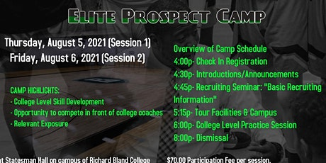 Elite Prospect Camp tickets