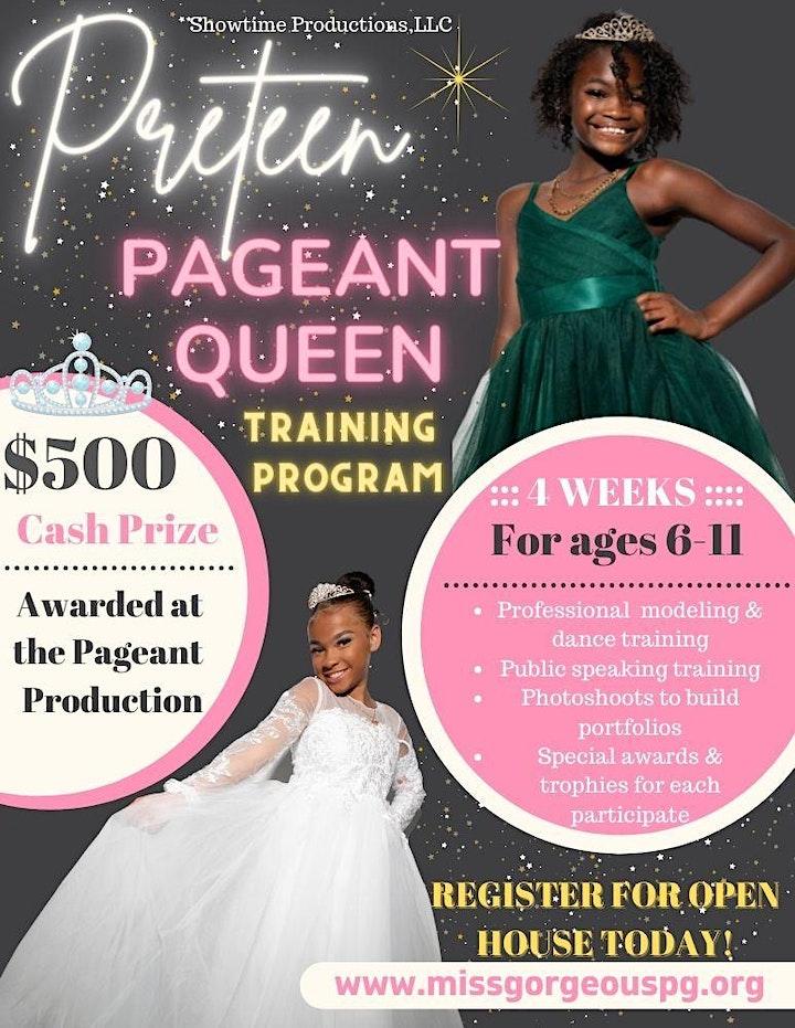 PreTeen Pageant Queen Training Program Open House image