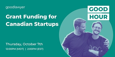 Grant Funding for Canadian Startups tickets