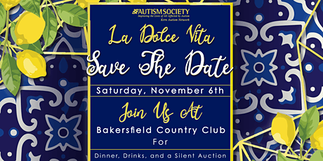 """The 2nd Annual Autism Gala """"La Dolce Vita"""" tickets"""