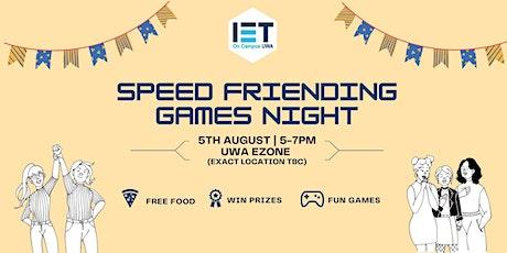 Speed Friending Games Night - 2021 Sem 2 tickets