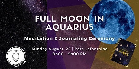 Full Moon in Aquarius Meditation & Journaling Ceremony tickets