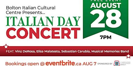 Bolton Italian Cultural Centre Proudly Presents: Italian Day Concert tickets