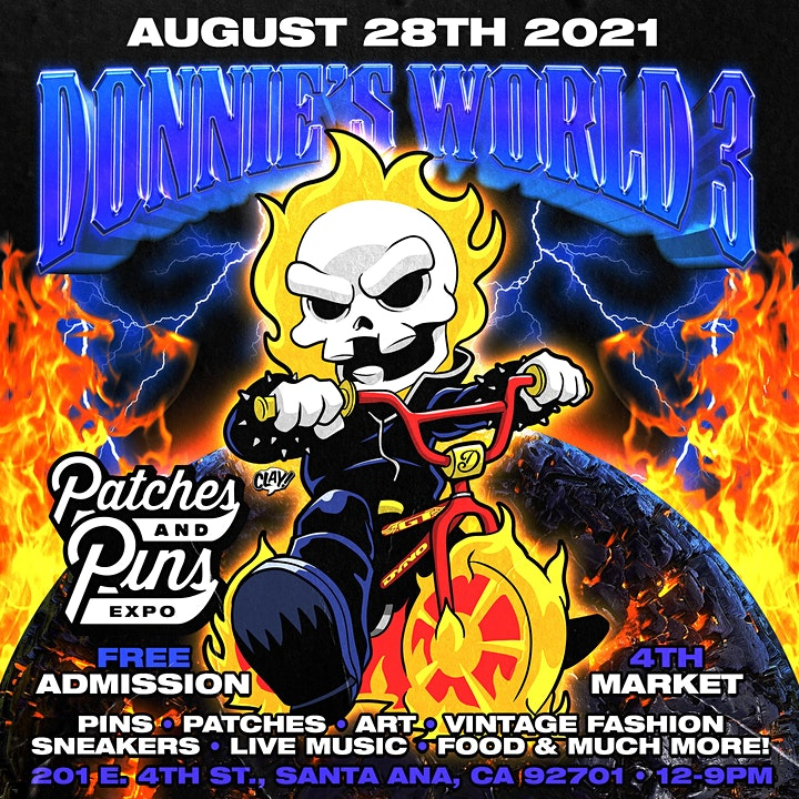 """Patches & Pins Festival Orange County """"Donnies World"""" image"""