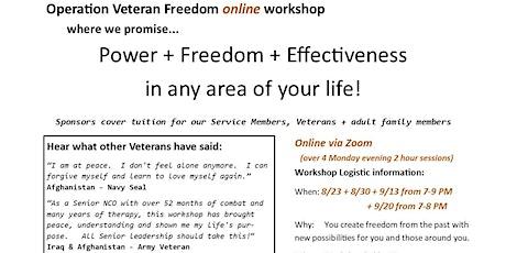 Operation Veteran Freedom Workshop online tickets