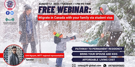 FREE WEBINAR: Migrate in Canada with your family via student visa tickets