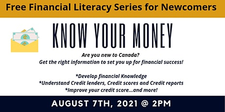 Financial Literacy Workshops for Newcomers - Know Your Money! tickets