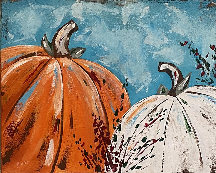 Paint Night in Rockland - Pretty Pumpkins image