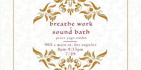 Breathe Work and Sound Healing tickets