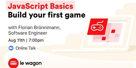 JavaScript basics: Build your first game - Online Workshop biglietti