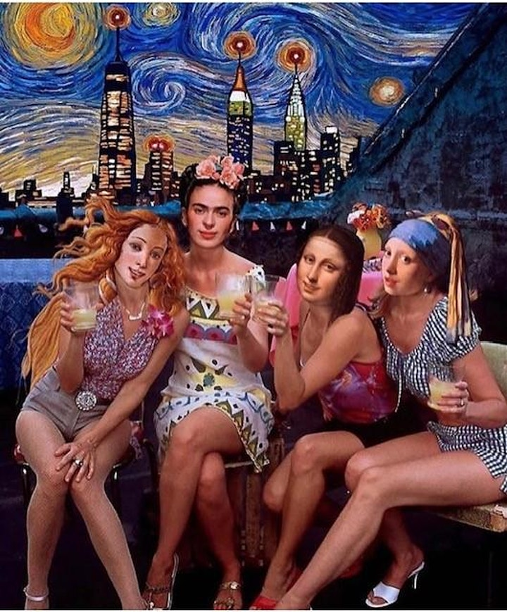 "'Viva La Vida"" - Frida Paint & Pour Mexican Extravaganza! image"