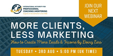 Live Masterclass: More Clients, Less Marketing with Mary Cravets biglietti