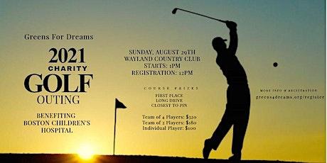 Boston Children's Hospital Charity Golf Tournament tickets