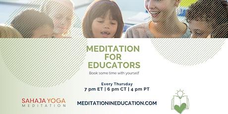Meditation for Educators tickets