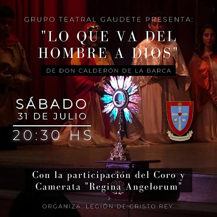"""Imagen de """"Lo que va del hombre a Dios"""" - Grupo Teatral Gaudete - Argentina"""