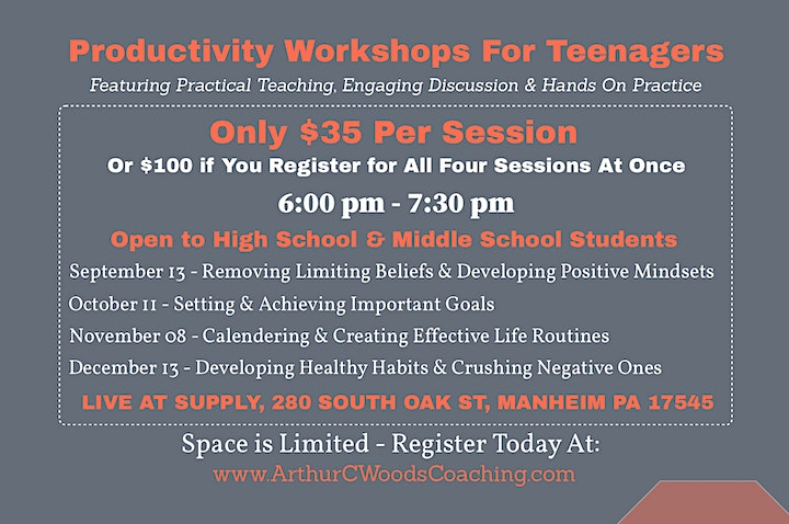 Productivity Workshops for Teenagers image